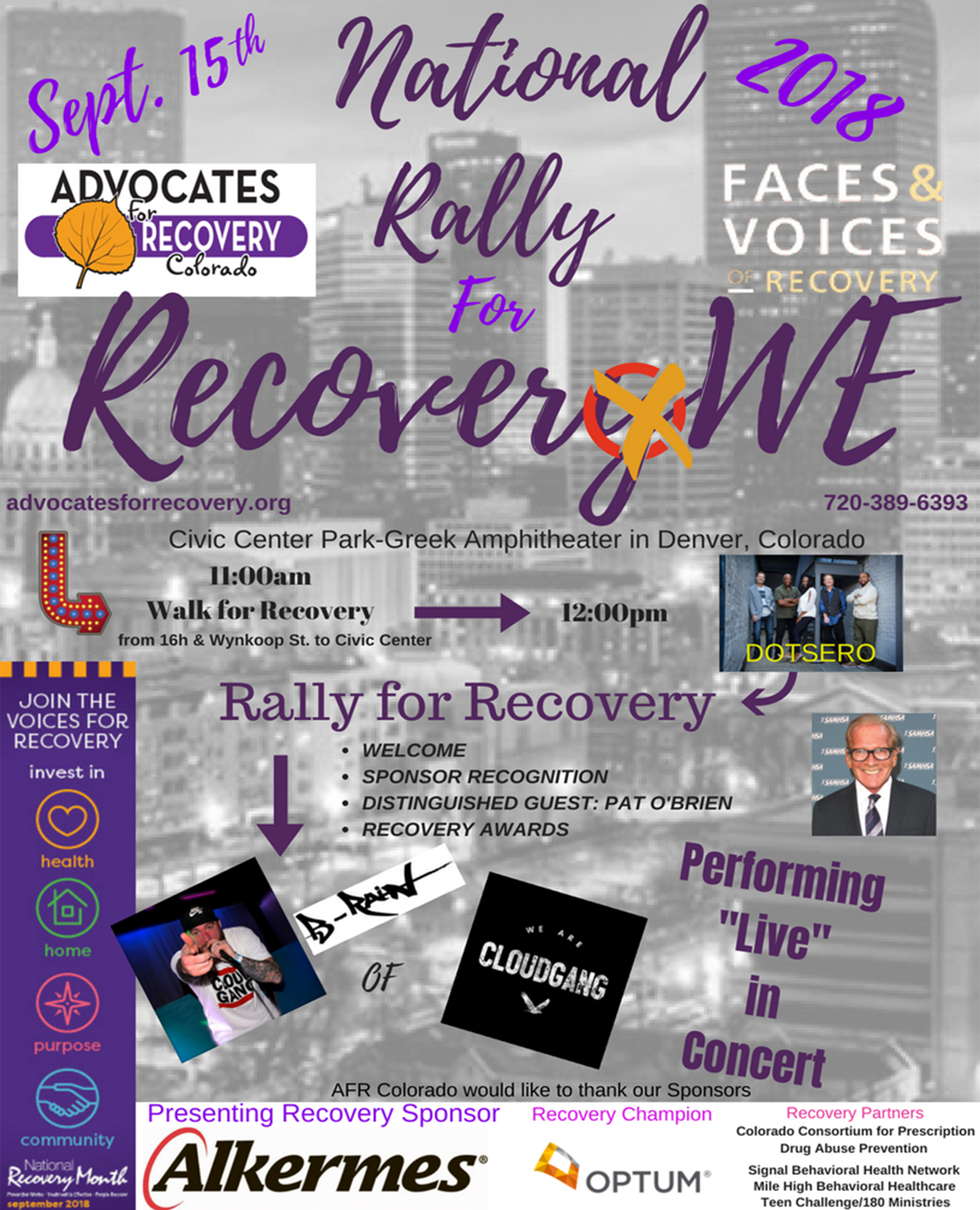 2018 recovery rally with advocates for recovery colorado